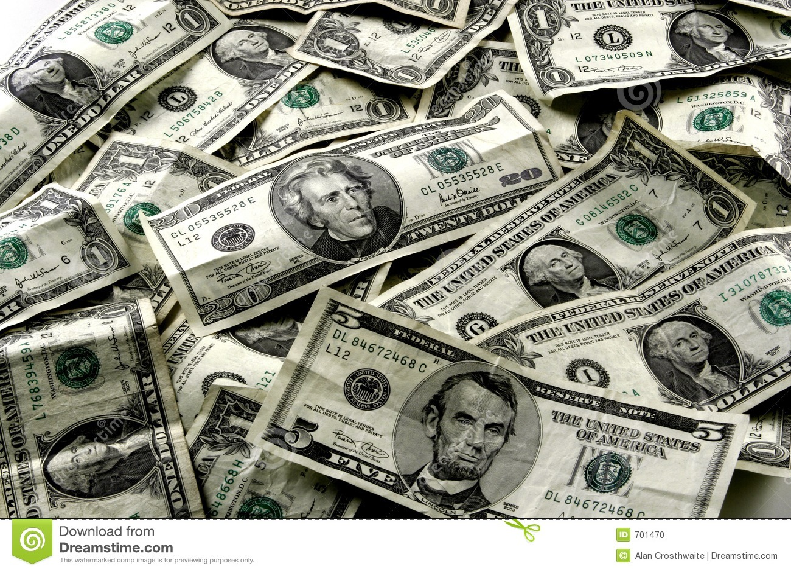 Us Currency Stock Photo Image Of Debtors Currencies
