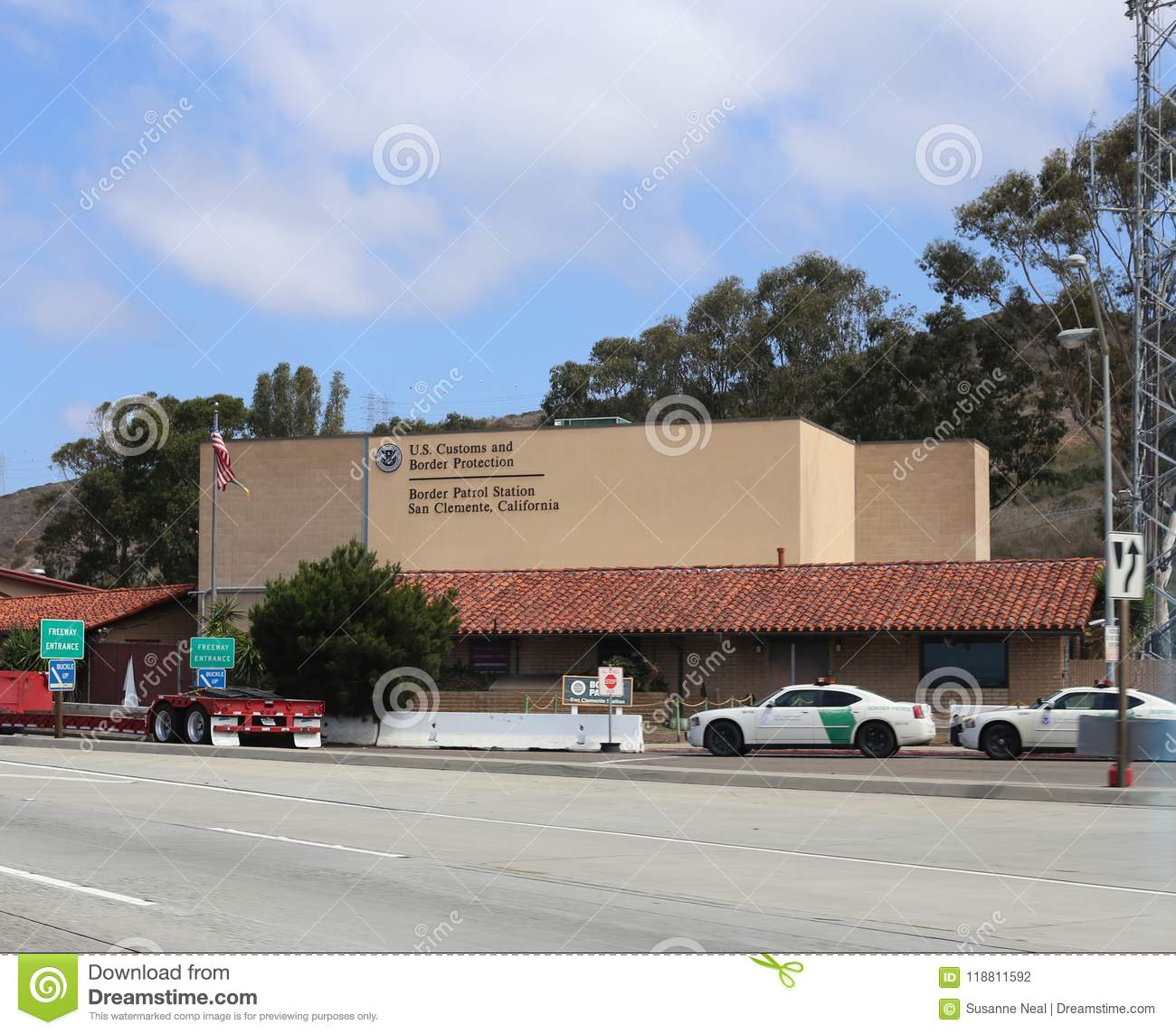 US Customs and Border Patrol building in San Clemente California