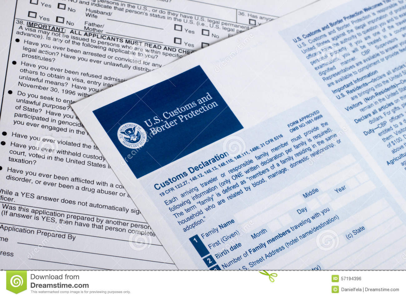 US Customs And Border Protection Stock Photo - Image: 57194396