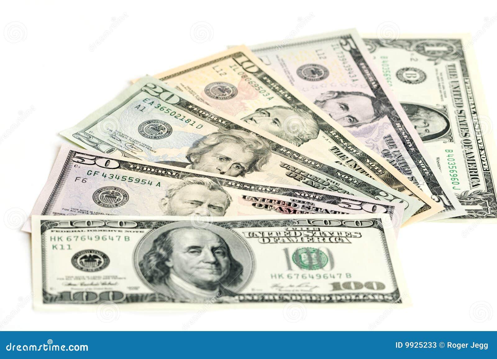 Us Dollar Banknotes Stock Photos Image 9925233