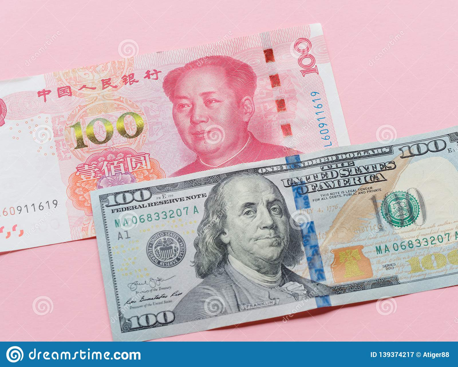 Us Dollar Bill And China Yuan Banknote Macro Chinese And Usa Economy Finance Trade Business Money Closeup Forex Concept Stock Image Image Of Look Income 139374217