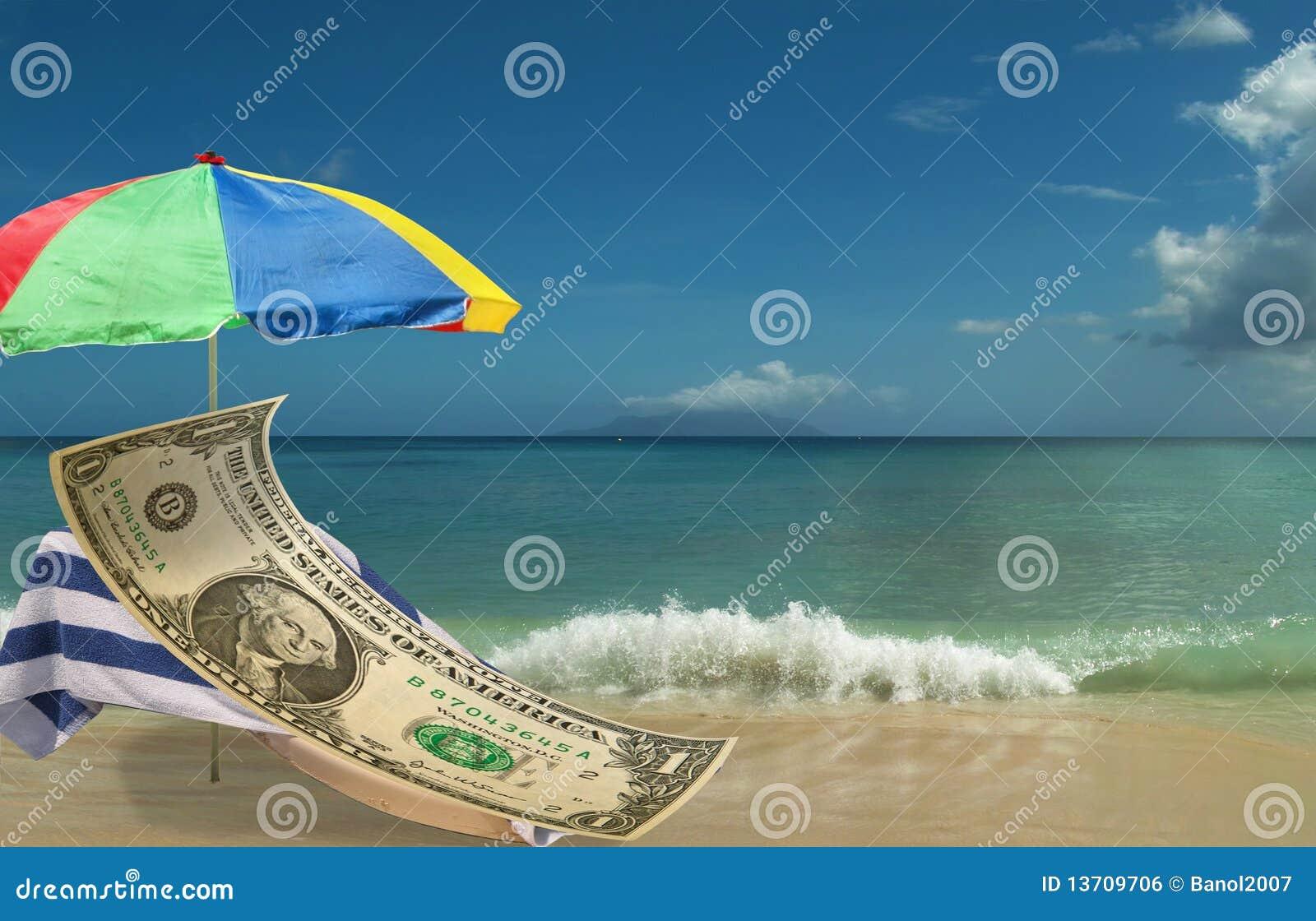 US Dollar is resting & enjoing paradice beach