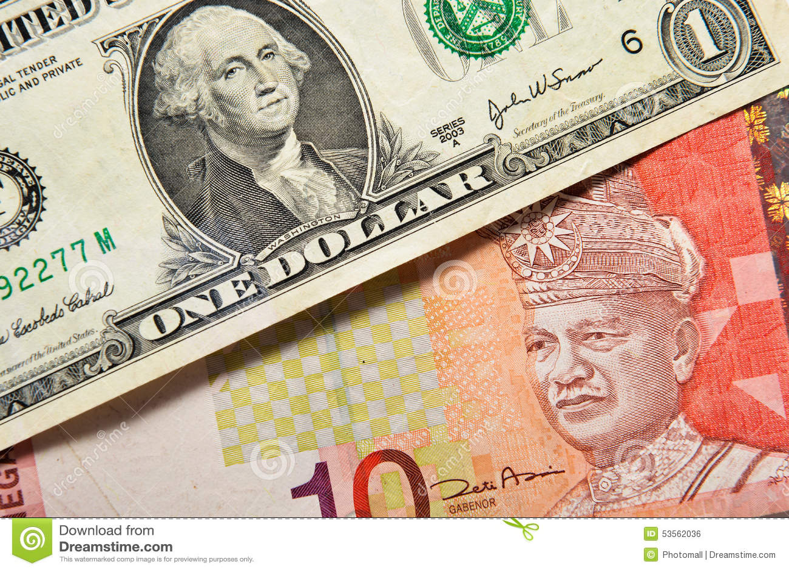 Us Dollar And Ringgit Malaysia Stock Photo Image Of Euro American 53562036