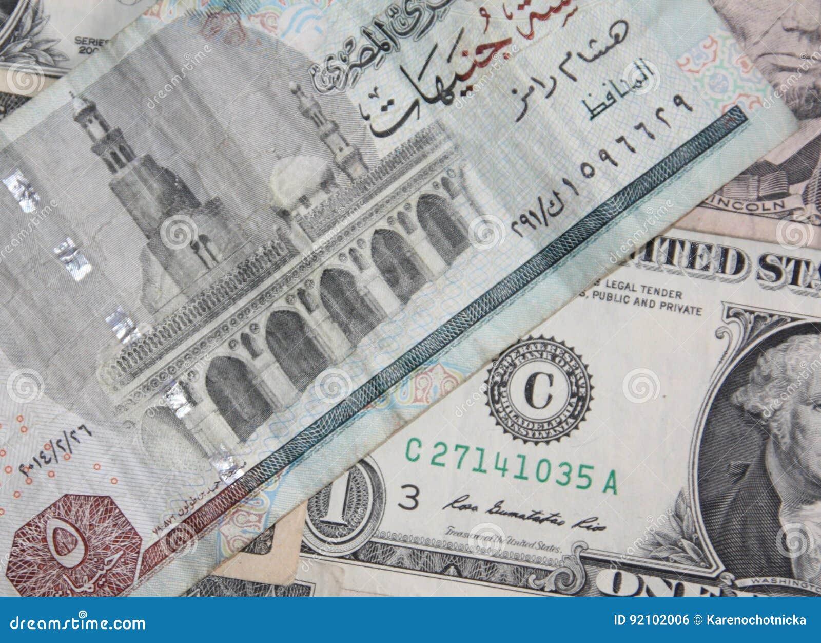 Us Dollar Versus Egyptian Pound Stock Photo Image Of