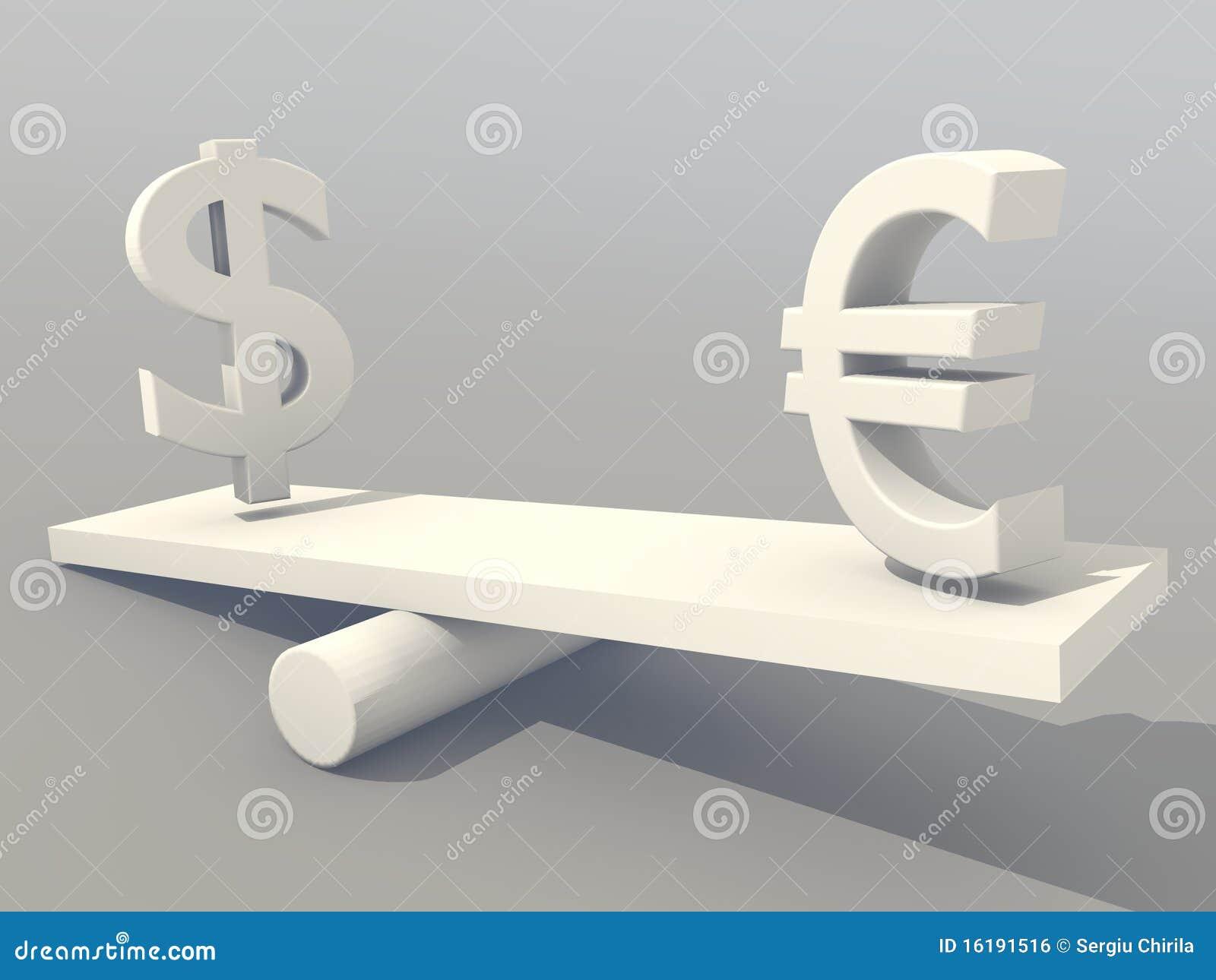 Us Dollar vs Euro stock illustration  Illustration of currency