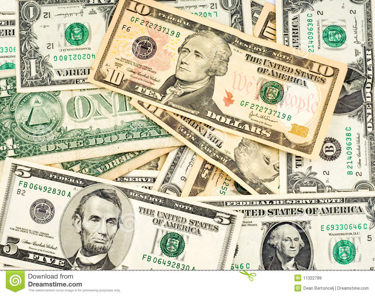 Us Dollars Royalty Free Stock Images - Image: 11322789