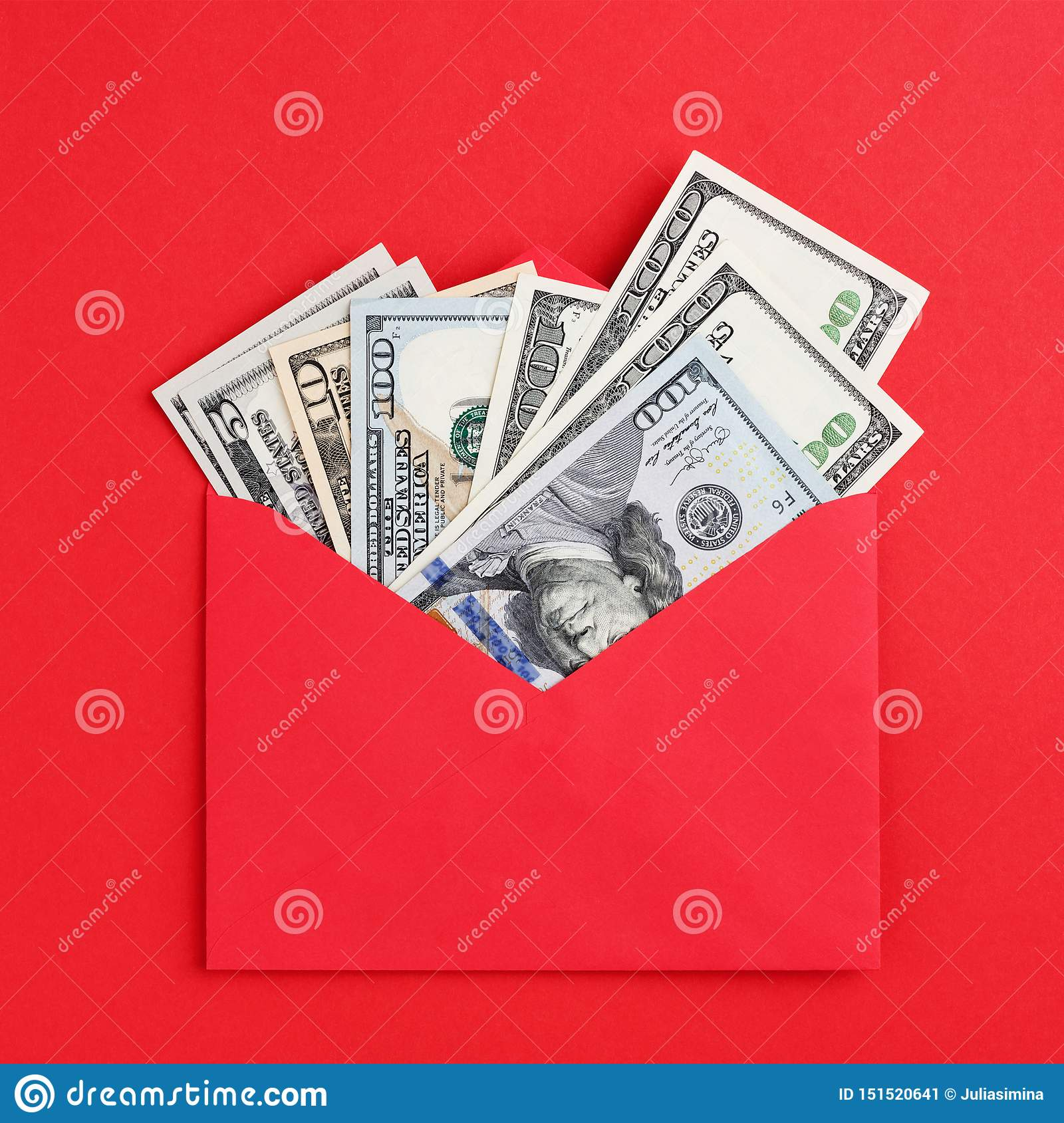 Red Red Hearts Cash Envelope