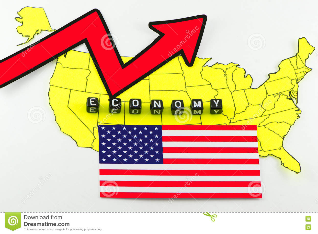 US economic recovery in the concept