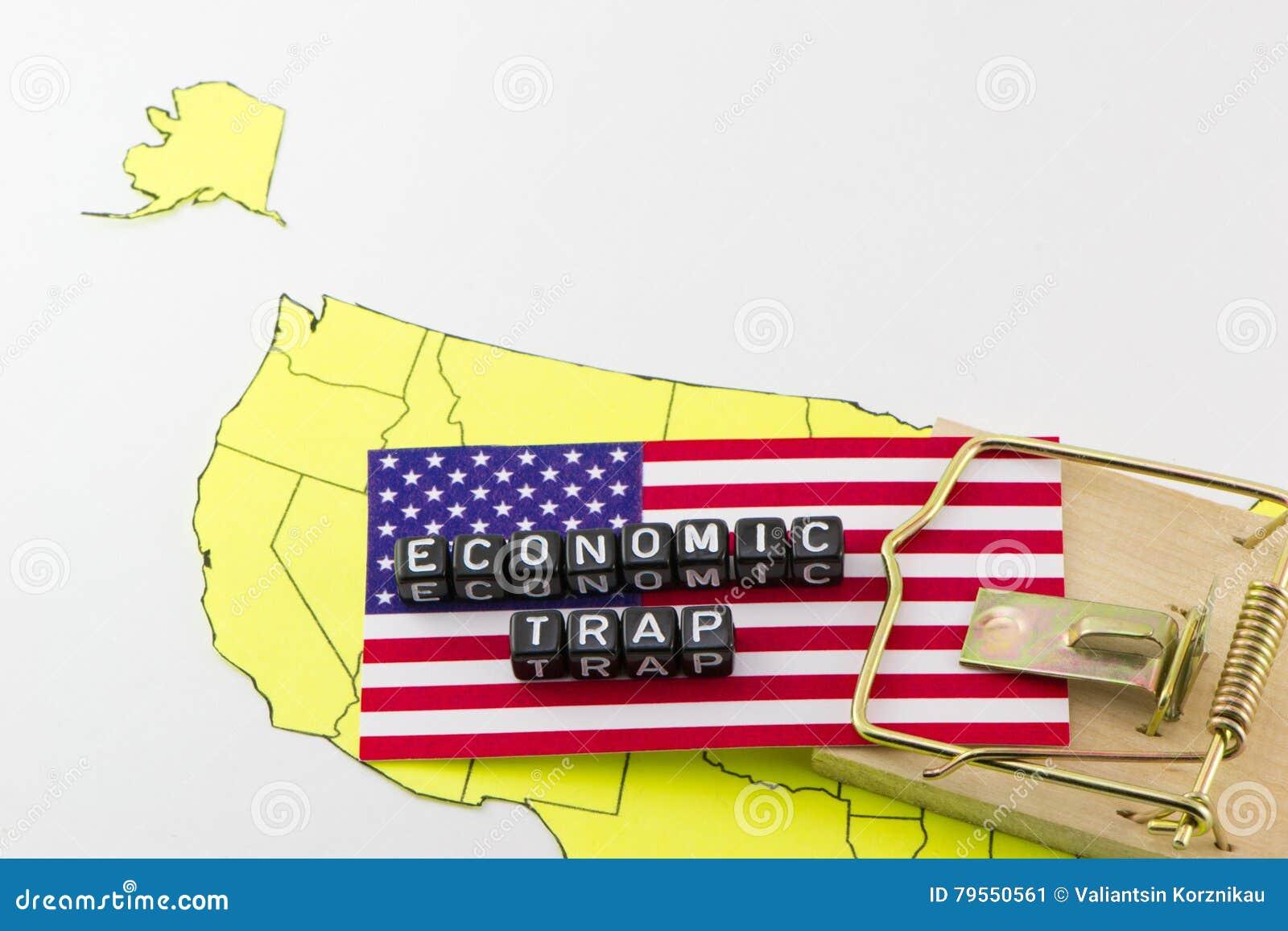 Us Economic Trap Stock Image Image Of Gallows America 79550561