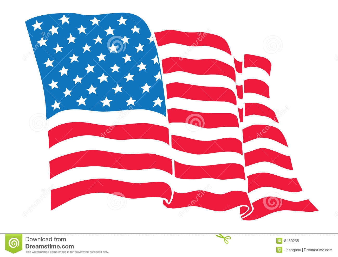 us flag american flag flowing waving stock vector illustration