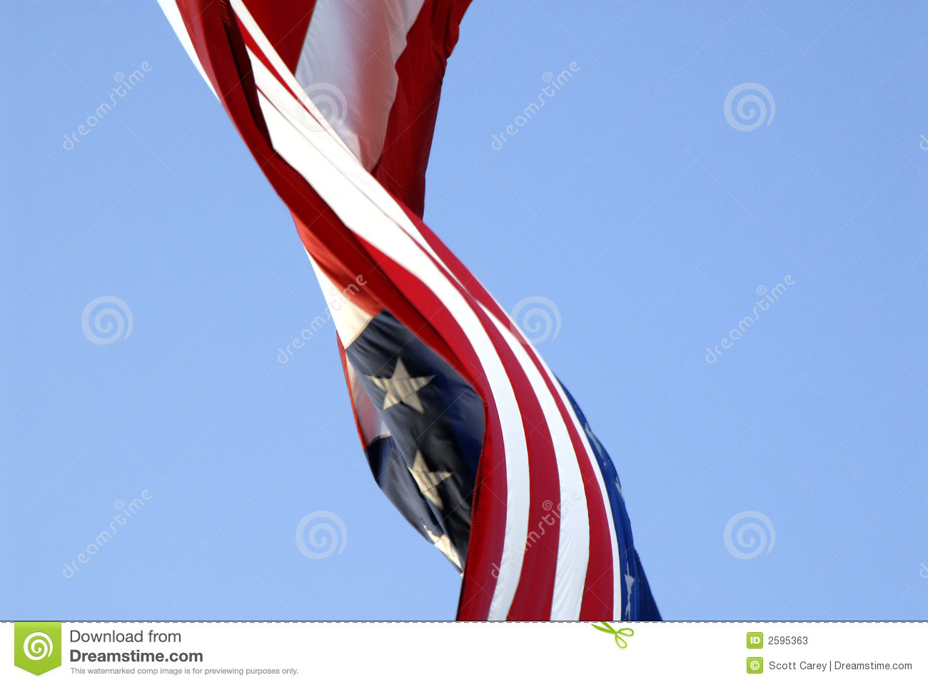 US flag in the breeze