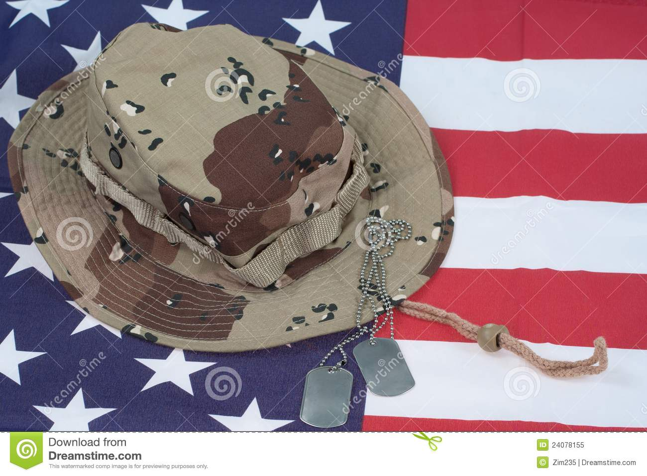 US Flag With Camouflage Combat Hat And Dog Tags Stock Image - Image ... 01feba94545