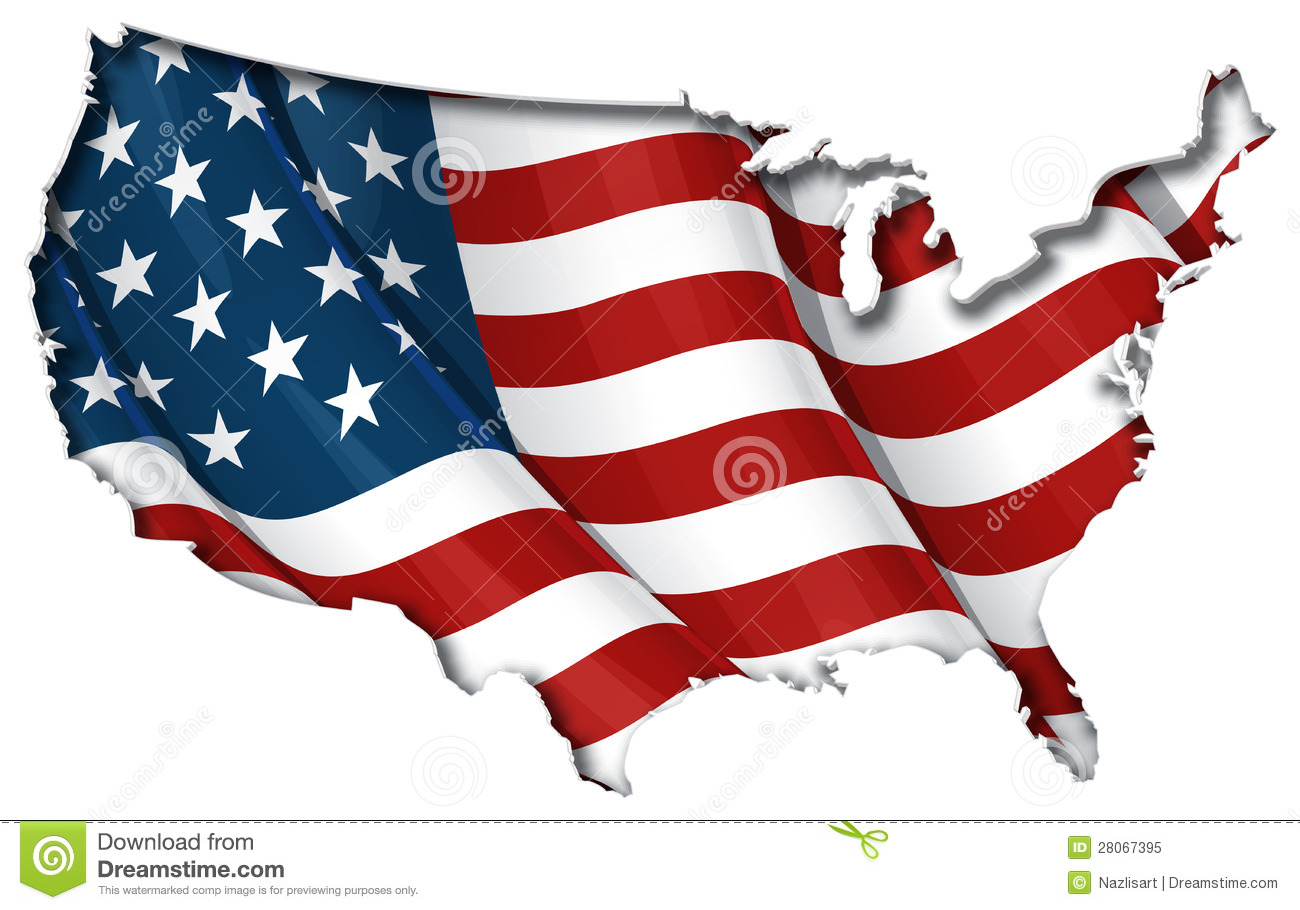 US FlagMap Inner Shadow Royalty Free Stock Photo Image - Us map with glag