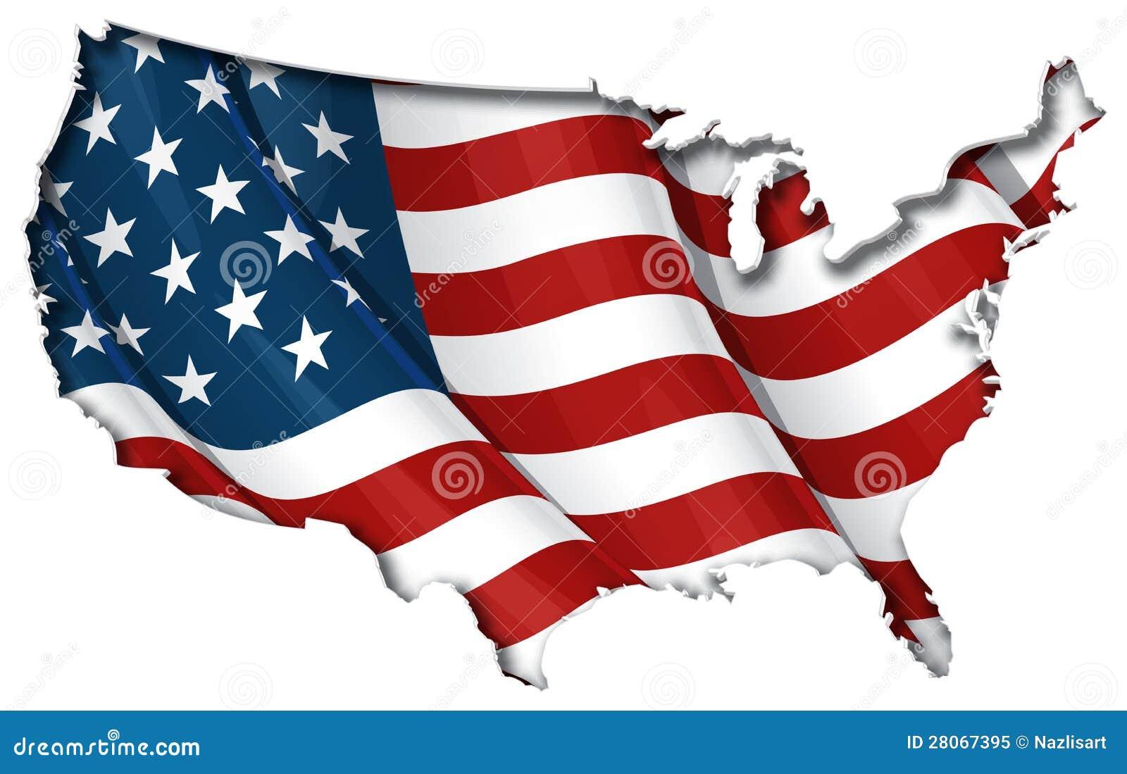 US FlagMap Inner Shadow Royalty Free Stock Photo Image - Us map flag