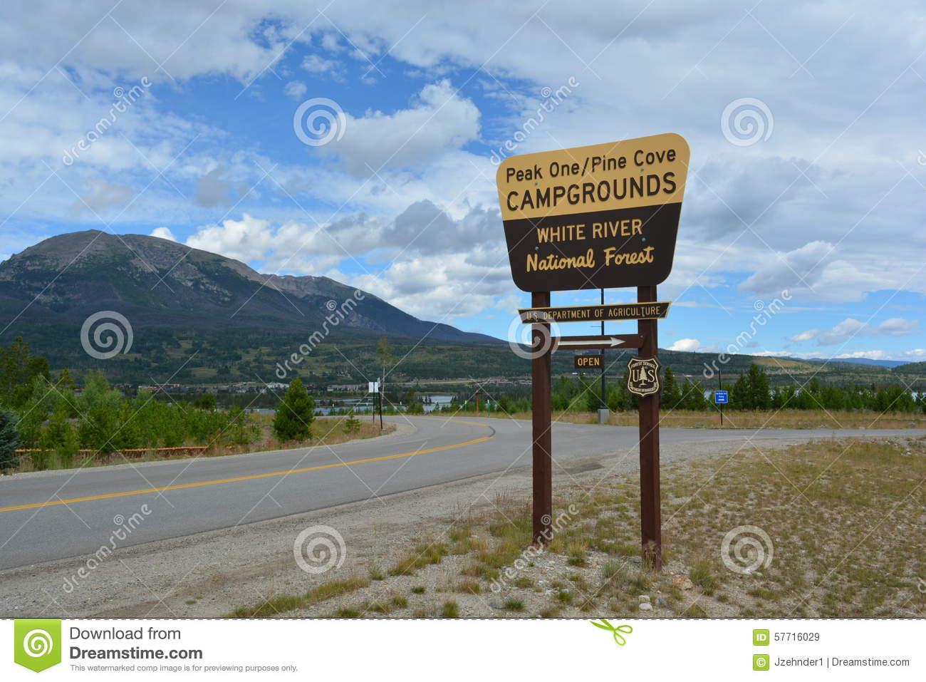 US Forest Service Camping Sign Stock Photo Image - Us forest campgrounds map