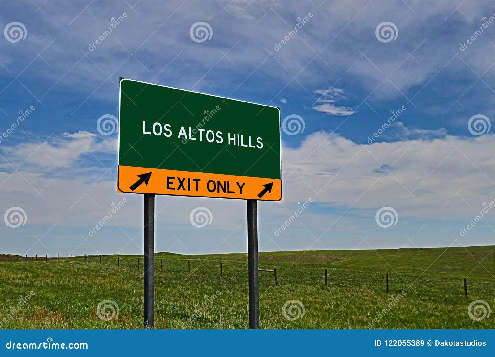 US Highway Exit Sign for Los Altos Hills