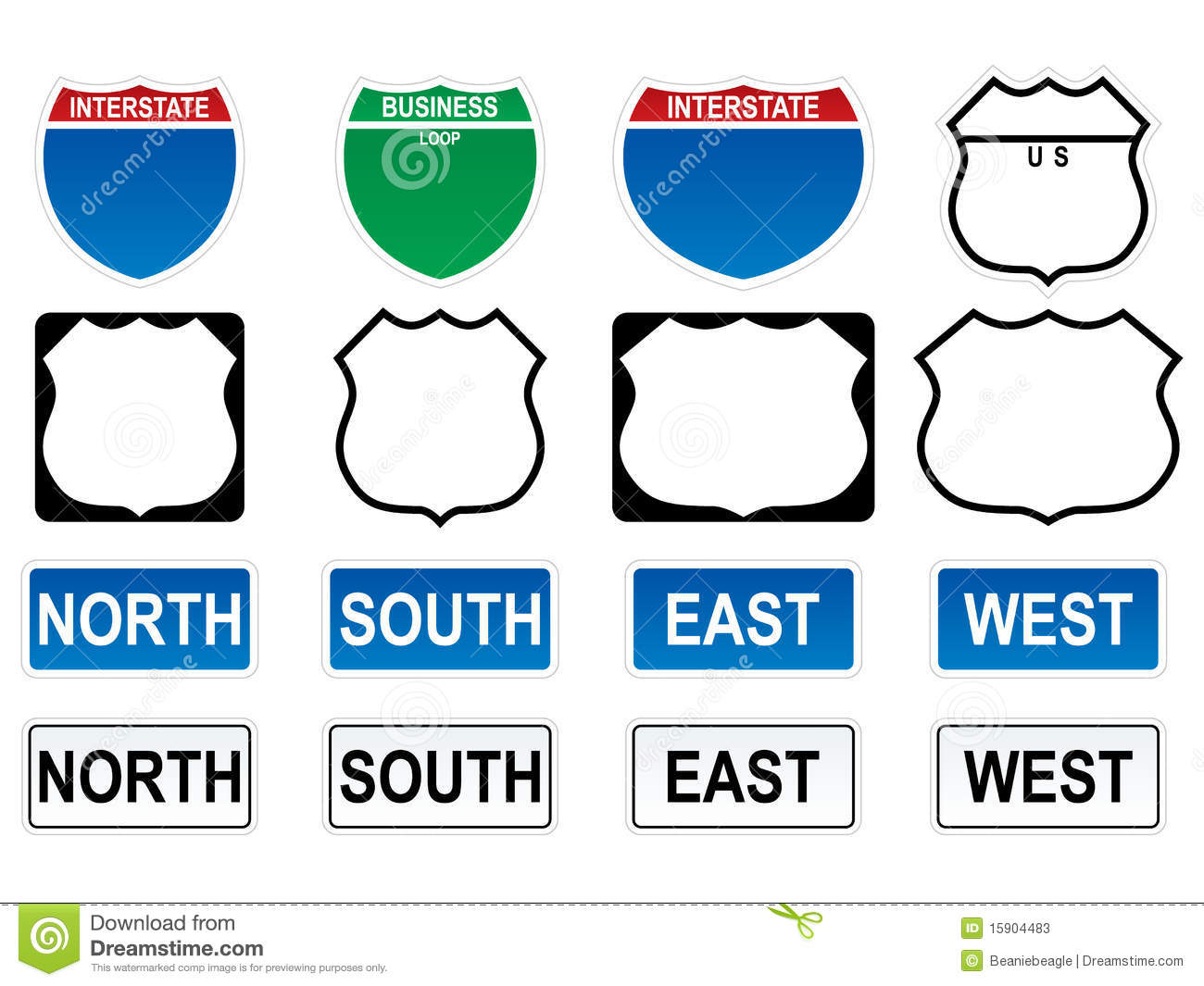 US Highway Signs EPS