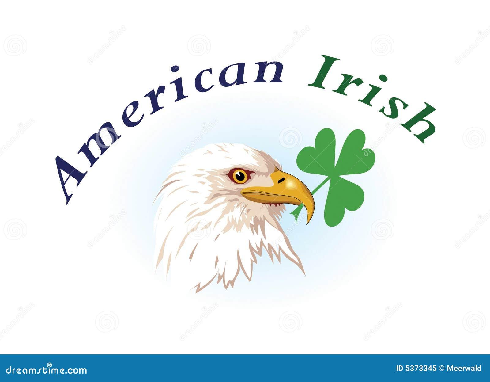 US amp Irish Emblems Royalty Free Stock Photo Image 5373345