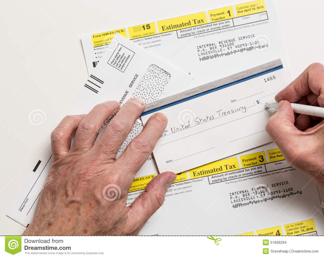 Us Irs Tax Form 1040 Es Editorial Stock Image Image Of Treasury