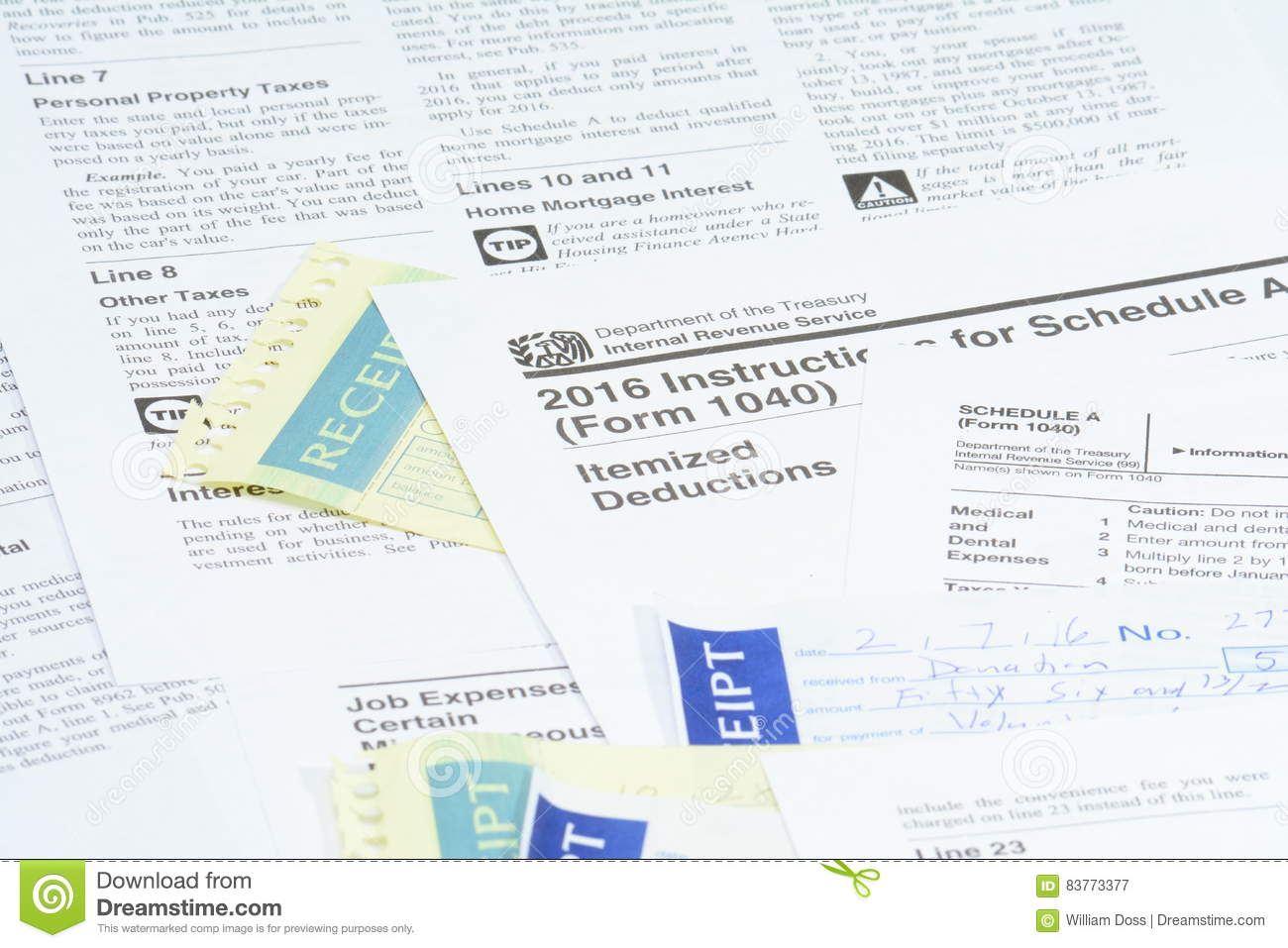 US IRS tax forms editorial photography  Image of income - 83773377