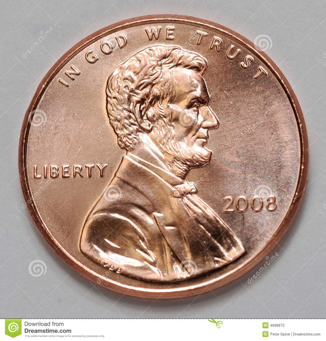 Us Lincoln Penny Stock Photo Image Of States Money