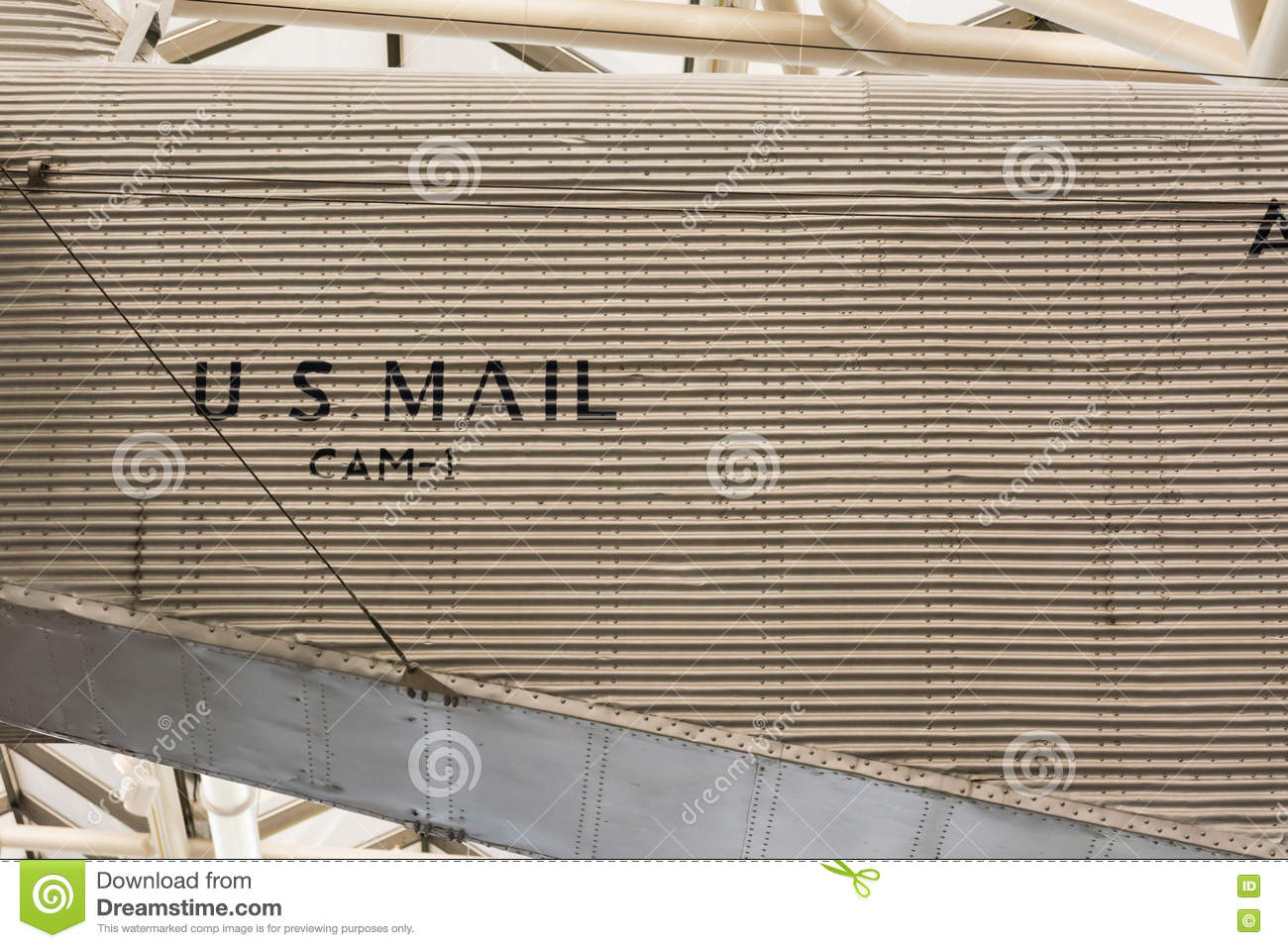 US Mail Airplane Delivery Retro CAM-1 Vintage Old Technology Met