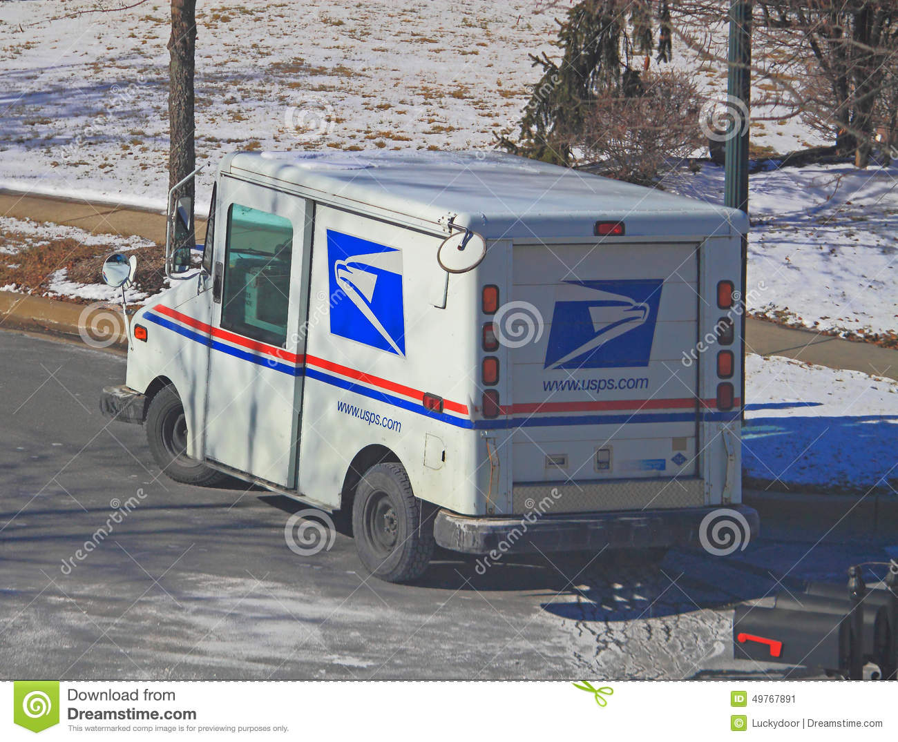US Mail Truck editorial photo  Image of states, community