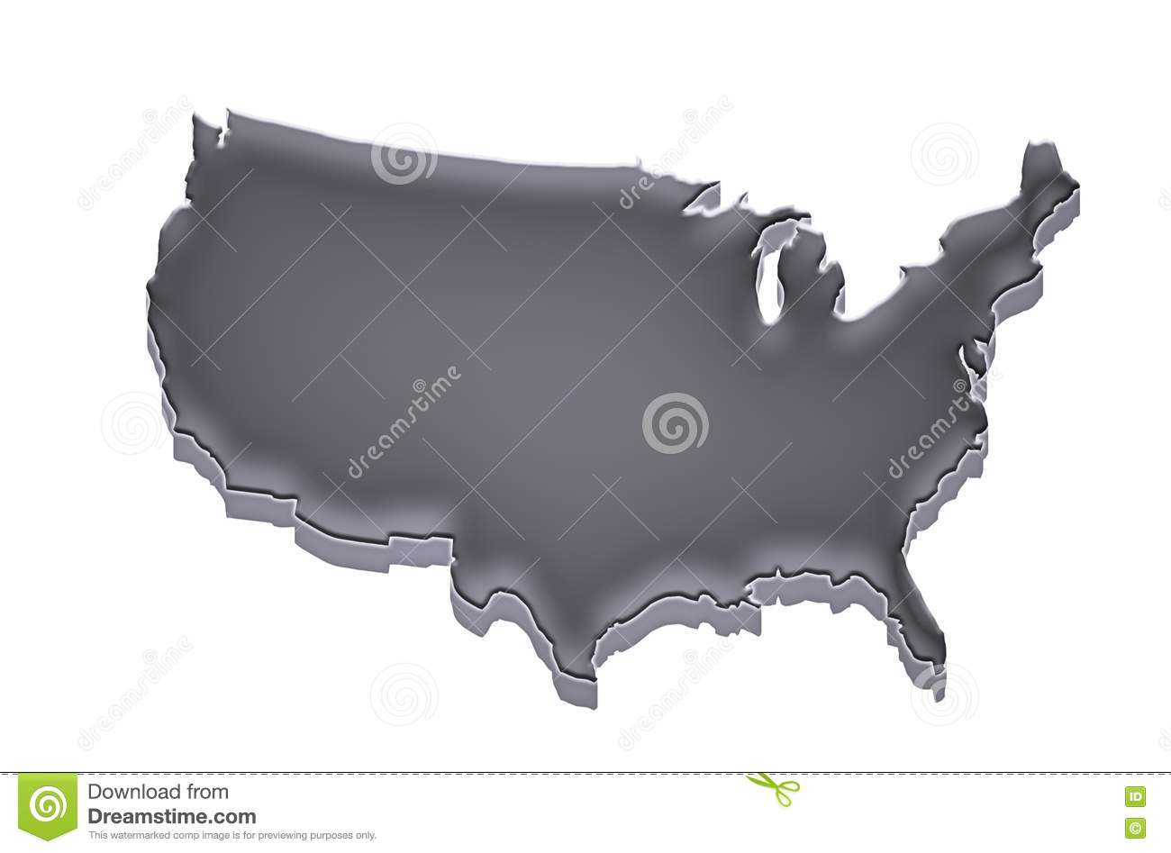US Map Grey And White Background Stock Illustration Image - Us map all white red background
