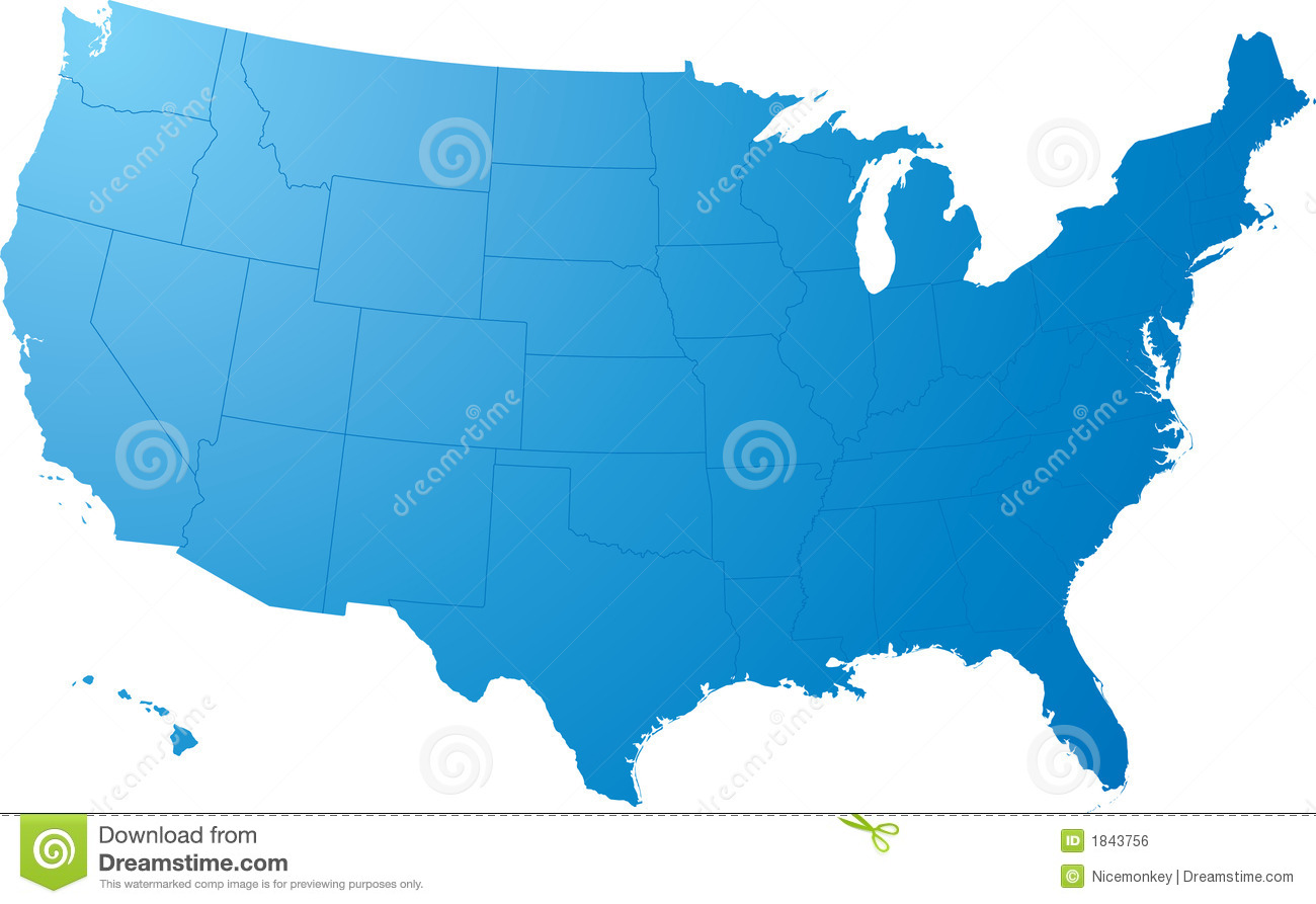 Us Map Plain Royalty Free Stock Image Image - Plain usa map