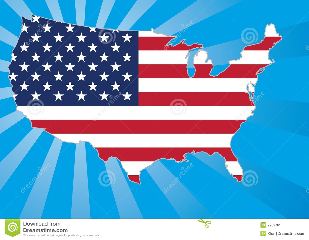 US Map With Stars And Stripes Stock Image Image - Stars map from us