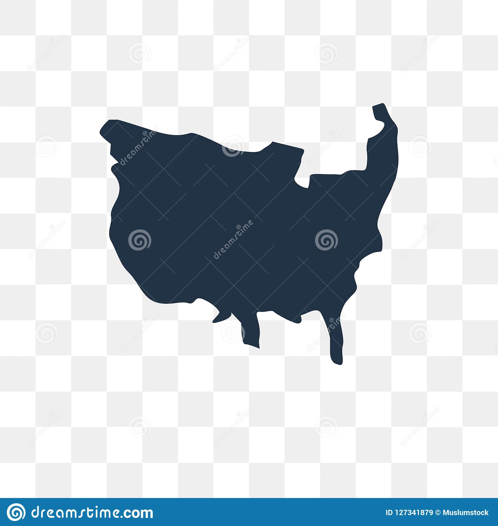 US Map Vector Icon Isolated On Transparent Background, US Map T ...