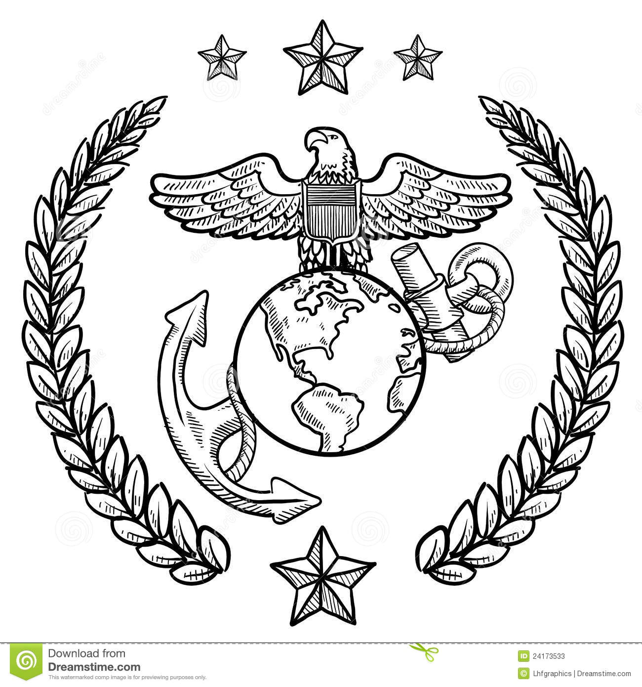 Us marine corps insignia stock vector illustration of medal 24173533 us marine corps insignia buycottarizona Image collections