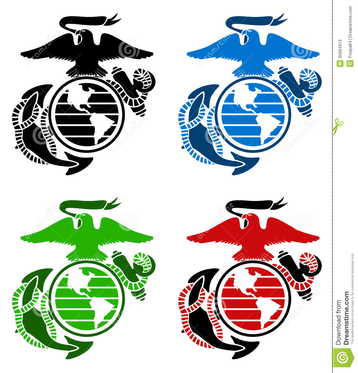 military branches symbols coloring pages - photo#20