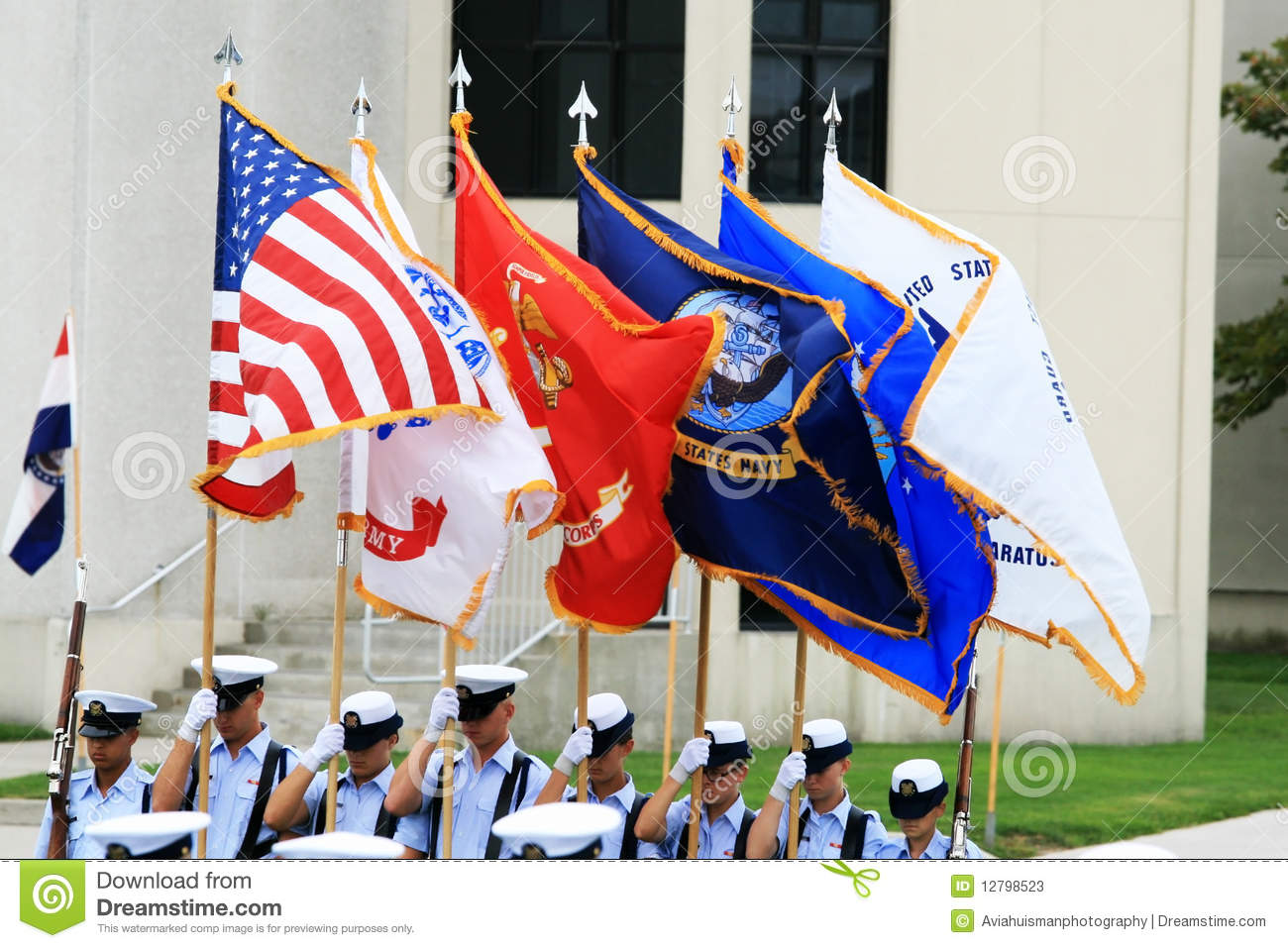 US Military Color Guard editorial stock photo  Image of army