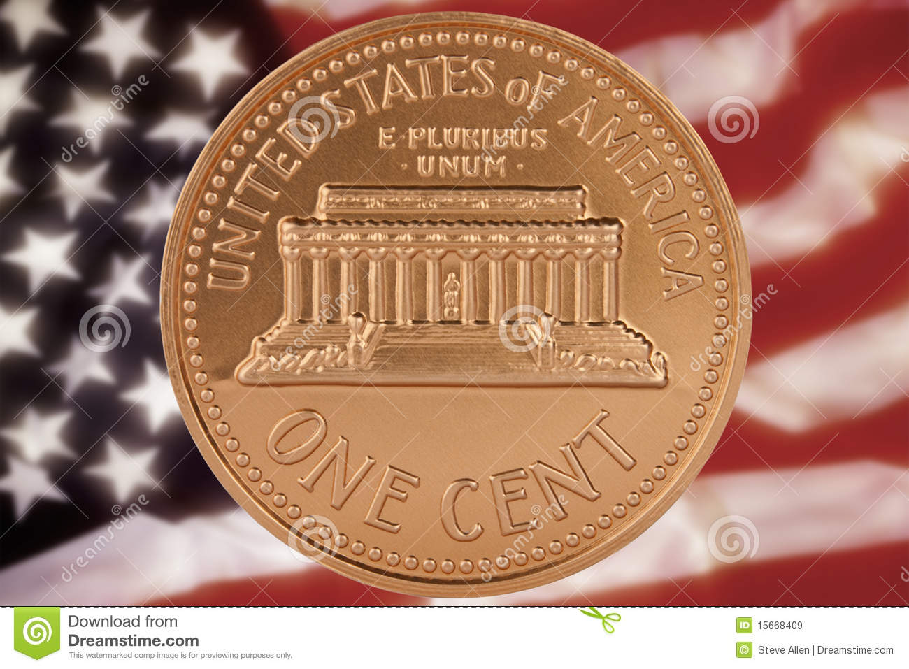 Us One Cent Coin Stock Image  Image Of States  Fiscal