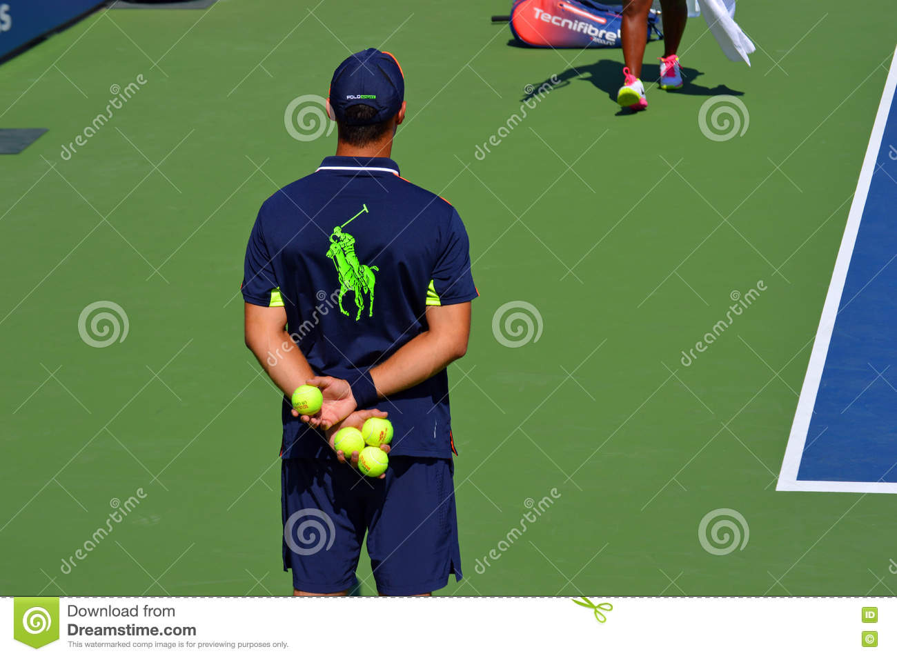 US OPEN Ball Boy editorial stock photo  Image of ralph