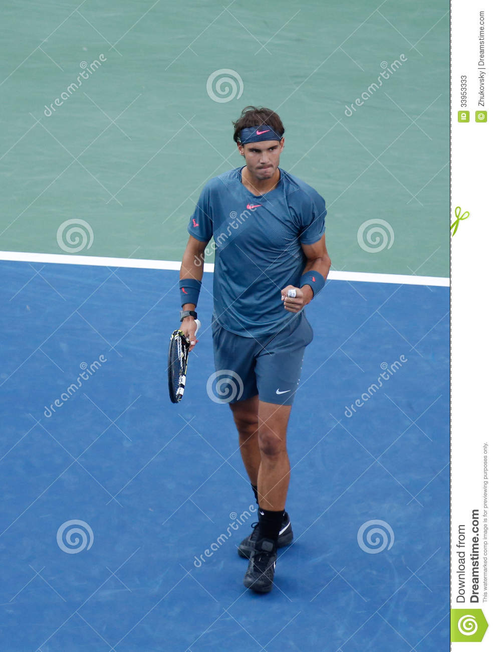 SEPTEMBER 9 US Open 2013 champion Rafael Nadal during his final match