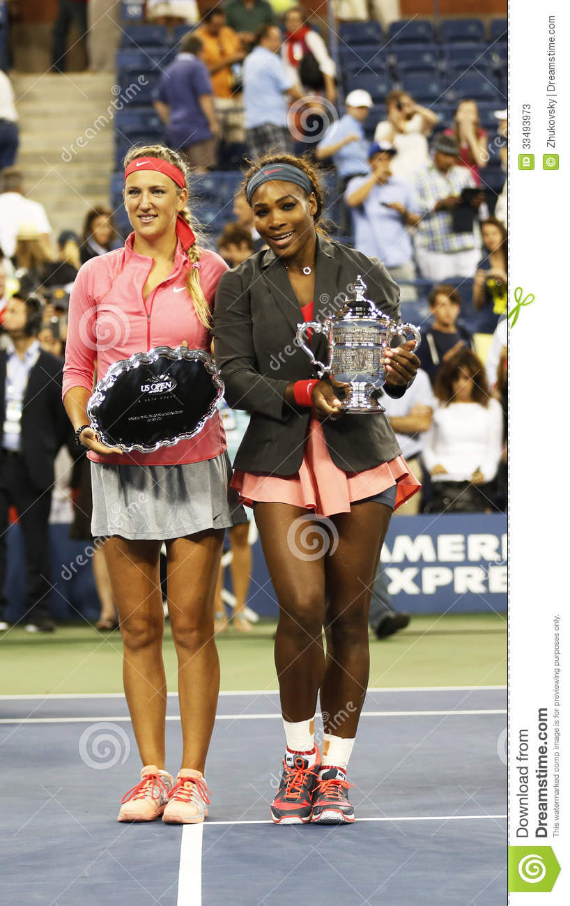 US Open 2013 champion Serena Williams and runner up Victoria Azarenka