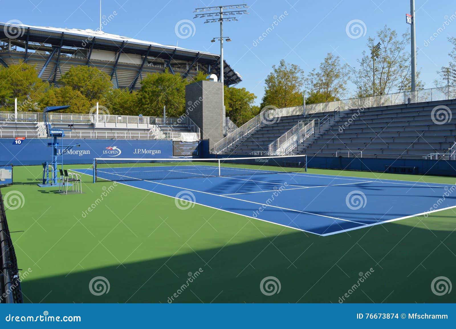 Us Open Tennis Court Editorial Stock Image Image Of Usta 76673874