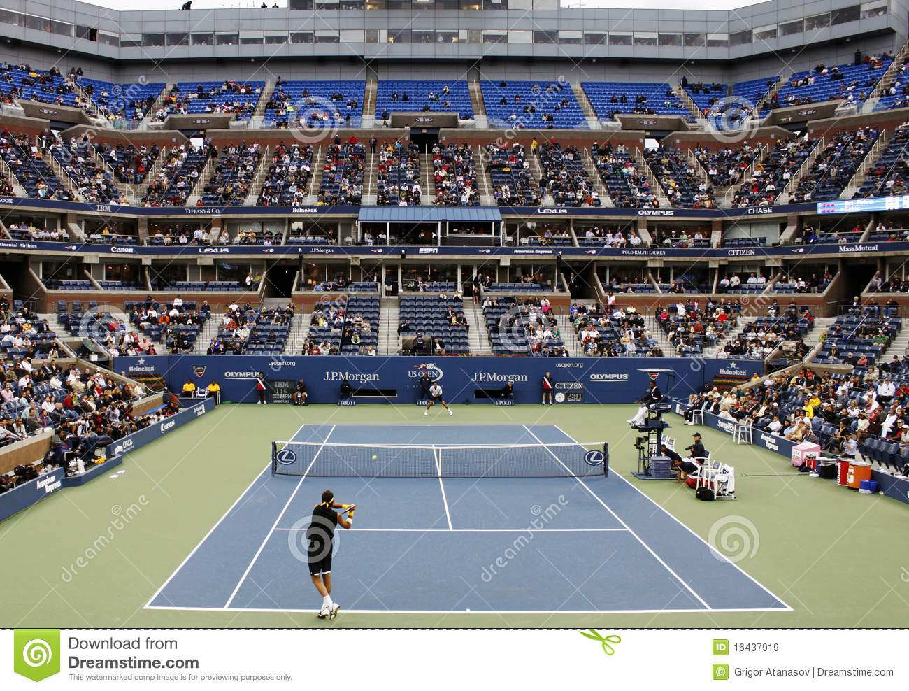 US Open Tennis Match Editorial Stock Image - Image: 16437919