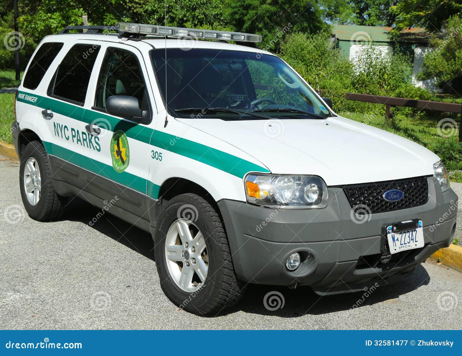 brooklyn new york july 14 us park ranger car in nyc park in brooklyn