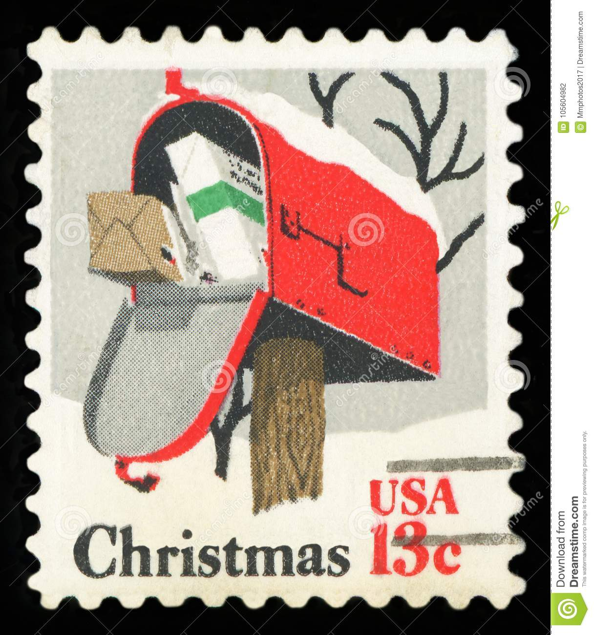 Us Postage Stamp Stock Photo Image Of Postal Collection