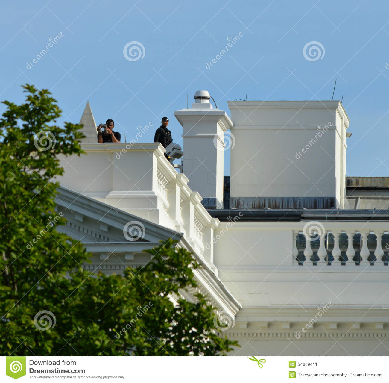 Us Secret Service White House Rooftop Surveillance