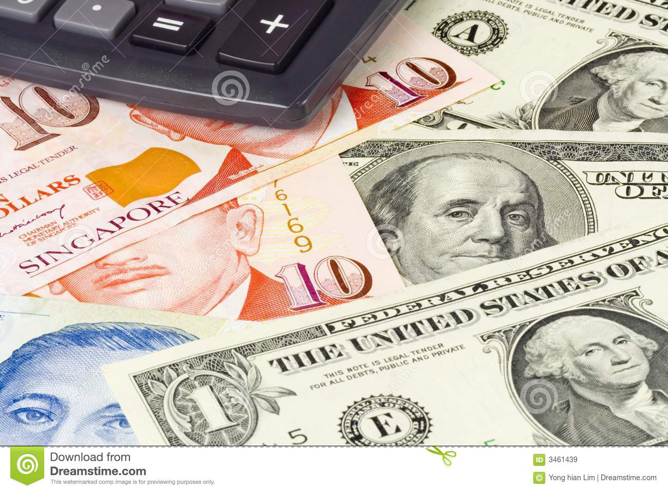 Forex currency pair stock image