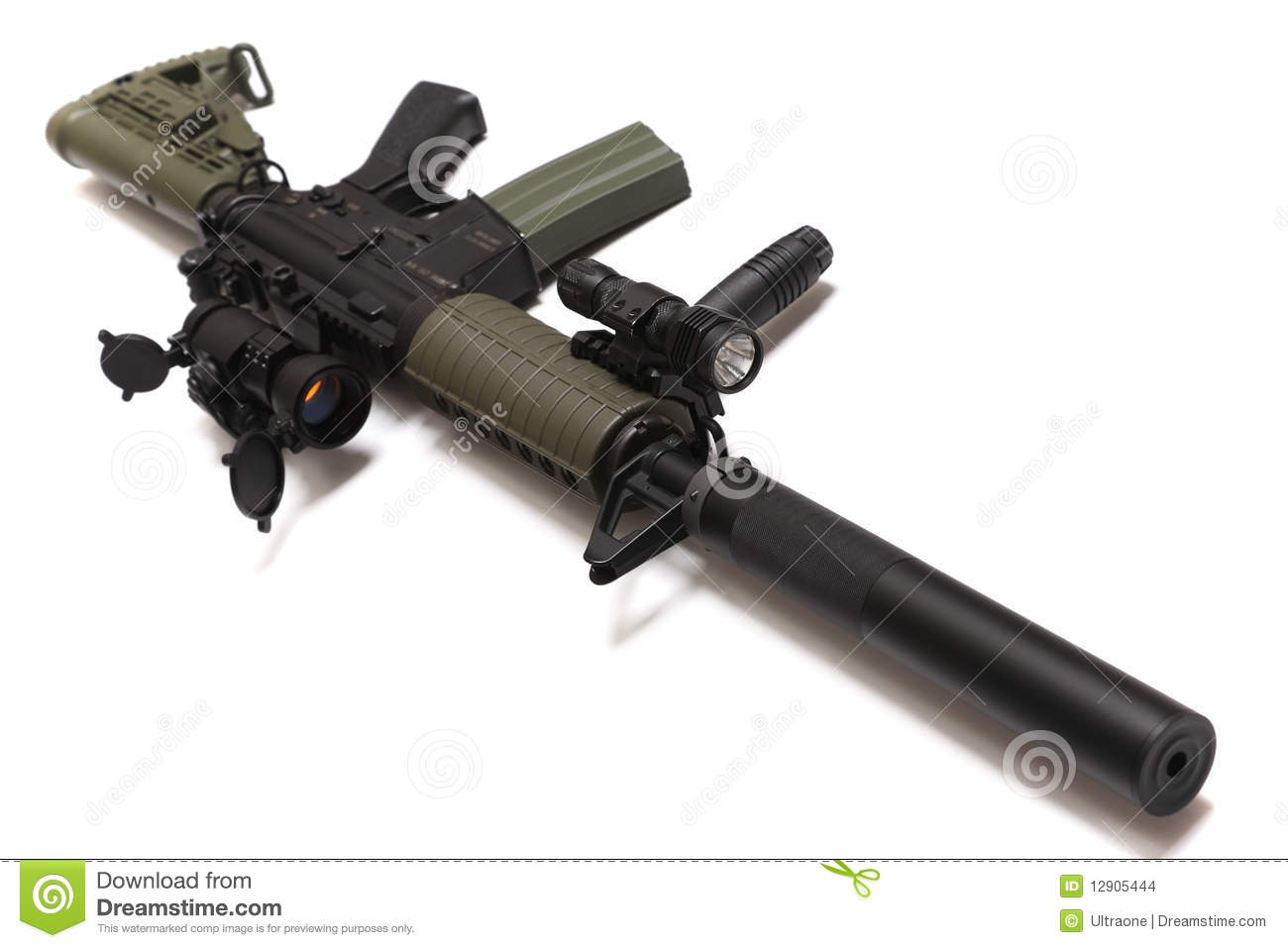 US Spec Ops M4A1 Custom Assault Rifle. Stock Images - Image: 12905444