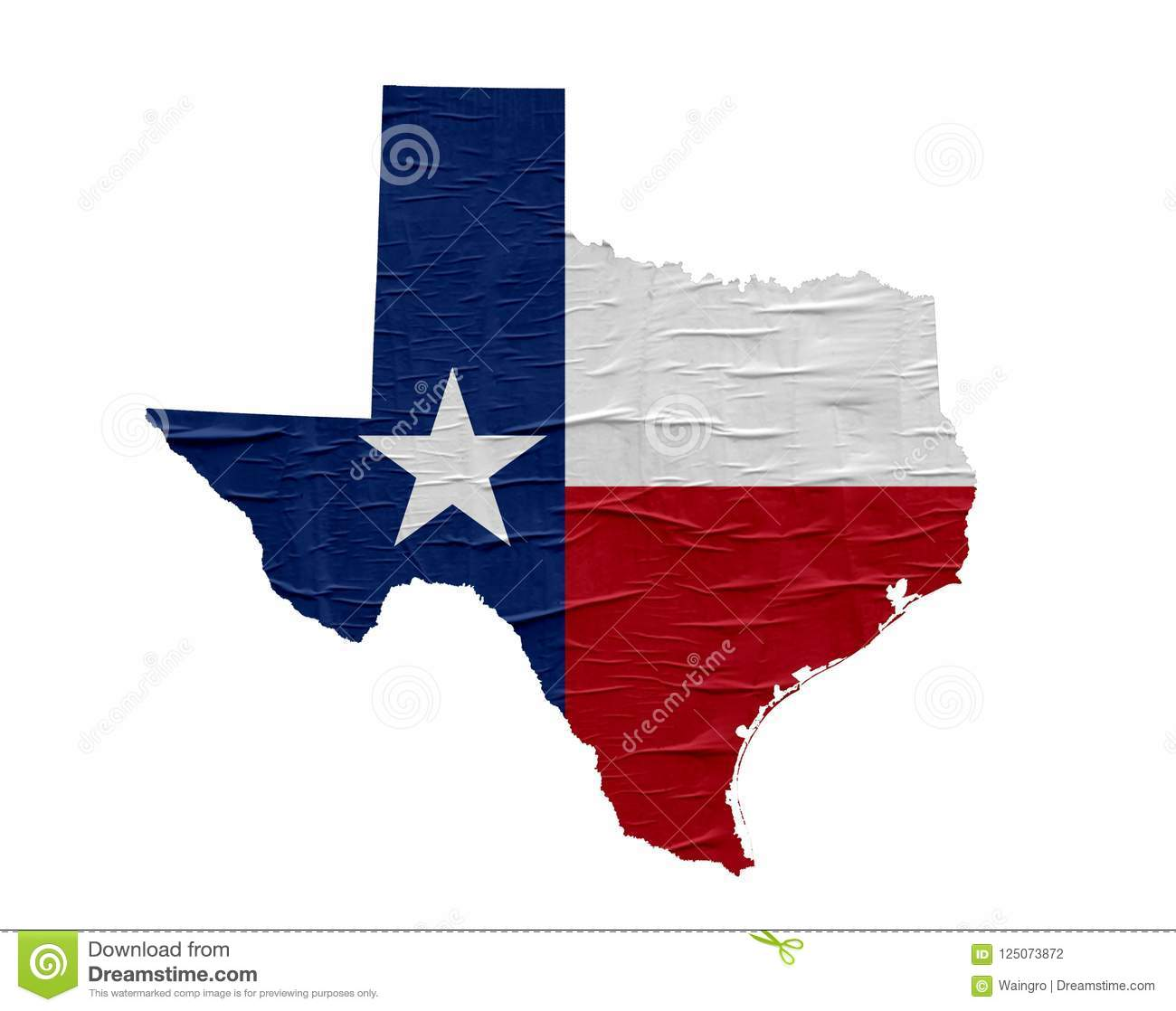US State Texas Map With Flag Stock Photo - Image of america, banner ...