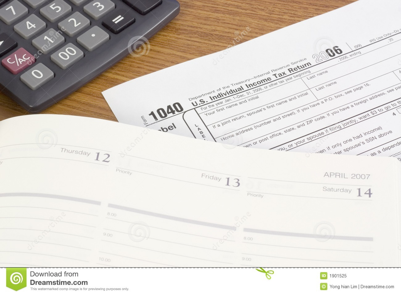 Us tax form editorial image image 1901525 for 1040 tax table calculator