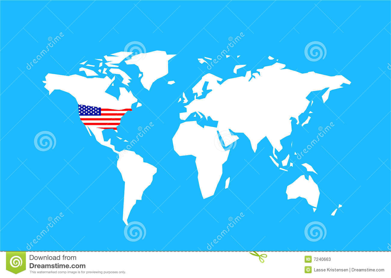 US World Map Stock Photos Image - Us in world map