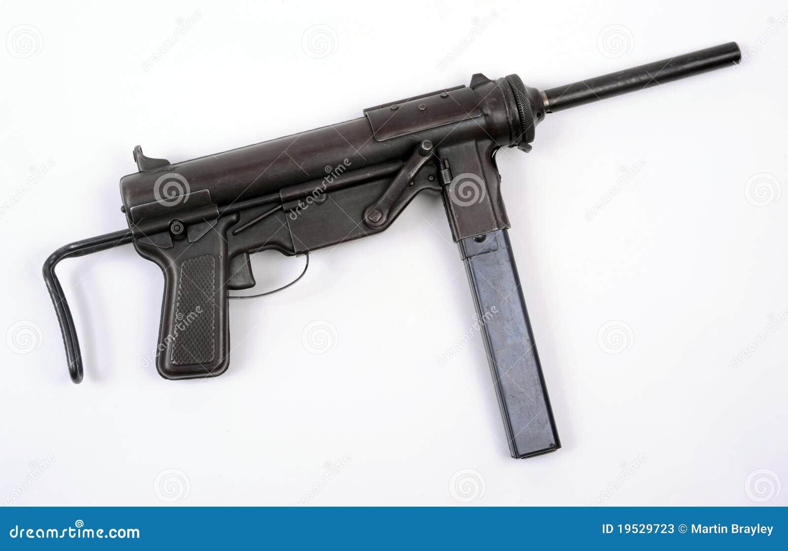 German Ww2 Machine Guns US WW11 M3 sub machine gun