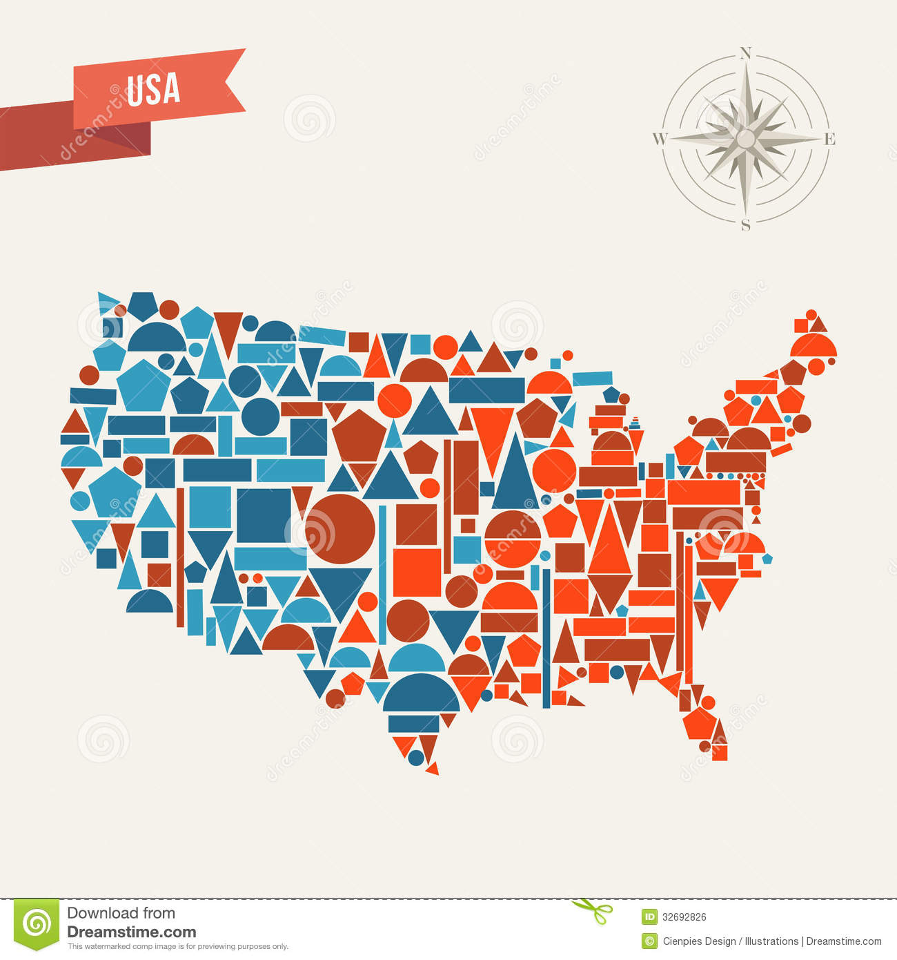 USA Abstract Map Royalty Free Stock Image Image - Us map illustration